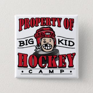 Big Kid Hockey Camp Red Helmet 15 Cm Square Badge