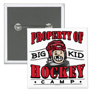 Big Kid Hockey Camp Red Helmet 15 Cm Square Badge