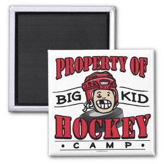 Big Kid Hockey Camp Red Helmet Square Magnet