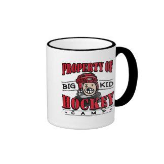 Big Kid Hockey Camp Red Helmet Ringer Mug