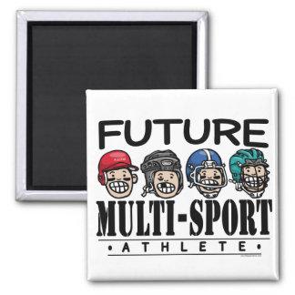 Big Kid Multi-Sport Athlete Square Magnet