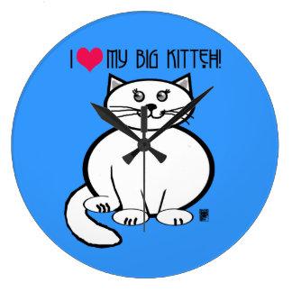 big kitteh wallclock