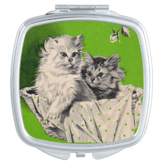 big kitten little kitten travel mirror