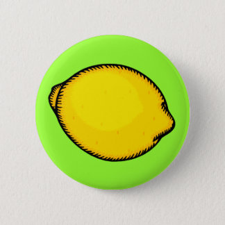 Big Lemon 6 Cm Round Badge