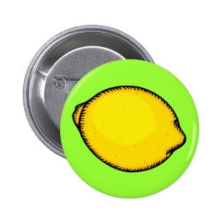 Big Lemon 6 Cm Round Badge