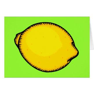 Big Lemon Card