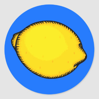 Big Lemon Classic Round Sticker