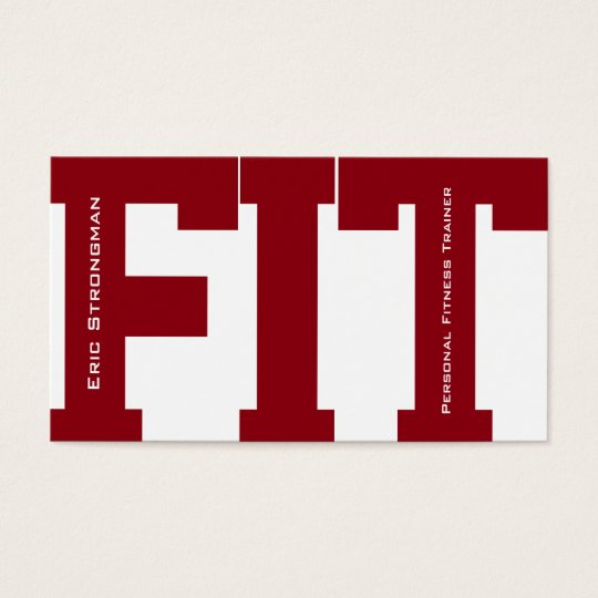 Big letters FIT fitness trainer modern cover Business