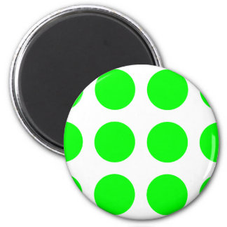 Big Lime Dots 6 Cm Round Magnet