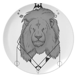 Big lion - Plate