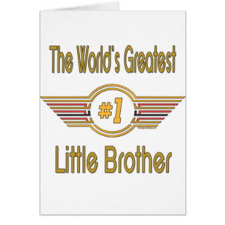 Big Little Middle Brother Gifts Card