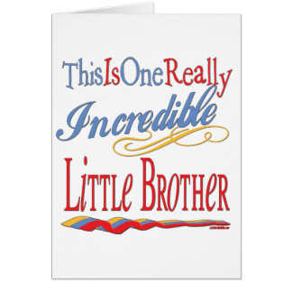 Big, Little, Middle Brother Gifts Greeting Card