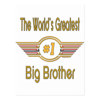 Big, Little, Middle Brother Gifts Post Cards