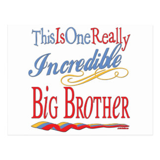 Big, Little, Middle Brother Gifts Postcards