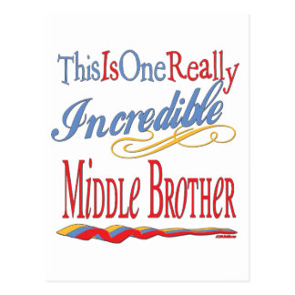 Big, Little, Middle Brother Gifts Postcard