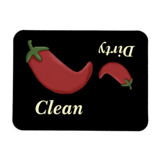 Big & Little Red Peppers Dishwasher Magnet