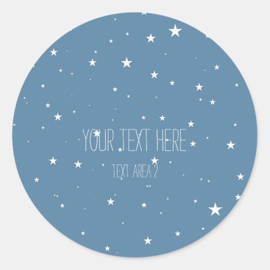 Big & Little Stars Blue Celestial Favour Stickers