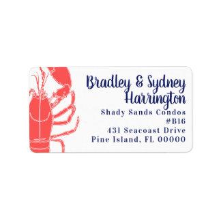 Big Lobster Long Address Wide Labels