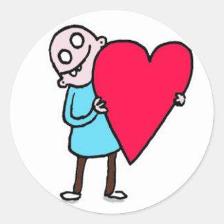 Big Love, Bald Ugly Man Round Sticker