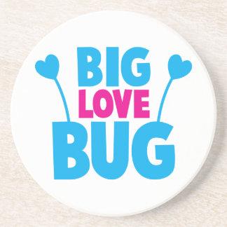 BIG Love bug with bug antennae Beverage Coaster
