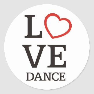 Big LOVE Dance Classic Round Sticker