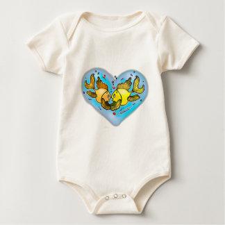 Big Love Fish Baby Bodysuit
