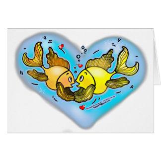 Big Love Fish cute cartoon greeting card