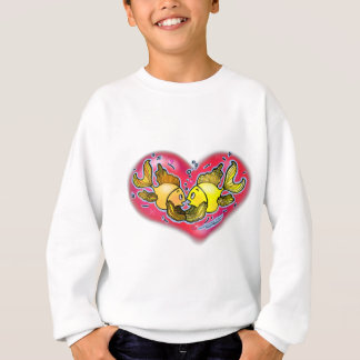 Big Love Fish in Red Heart Sweatshirt