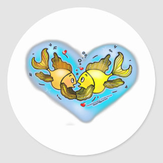 Big Love Fish Classic Round Sticker
