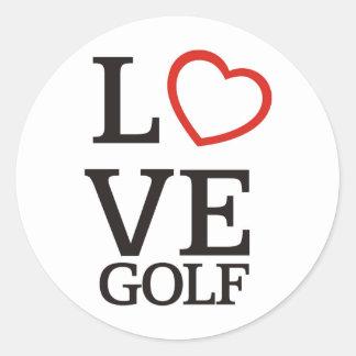 Big LOVE Golf Round Sticker
