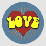 Big Love. Round Sticker
