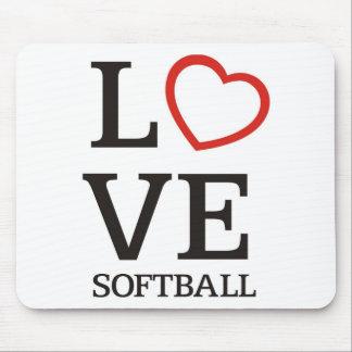 Big LOVE Softball Mousepad