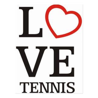 Big LOVE Tennis Postcard