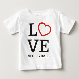 Big LOVE Volleyball Baby T-Shirt