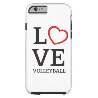 Big LOVE Volleyball Tough iPhone 6 Case