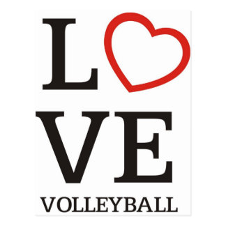 Big LOVE Volleyball Post Cards