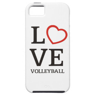 Big LOVE Volleyball Tough iPhone 5 Case