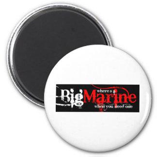 Big Marines Refrigerator Magnet