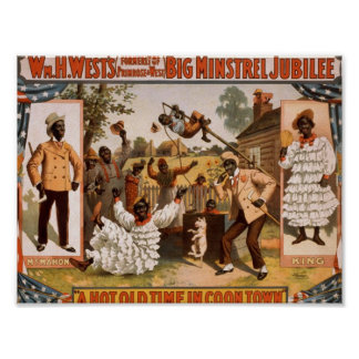 Big minstrel Jubilee, 'A Hot Time in Cool Town' Poster