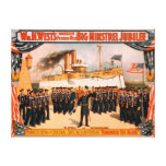 Big Minstrel Jubilee Remember the Maine Poster Canvas Print