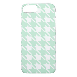 Big Mint Houndstooth iPhone 7 case