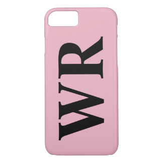 Big Monogram Letters Black and Pink Bold Style iPhone 8/7 Case