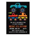 Big Monster Trucks Birthday Party Invitations