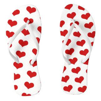Big Monza Heart Flip Flops