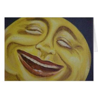 Big Moon Face Card