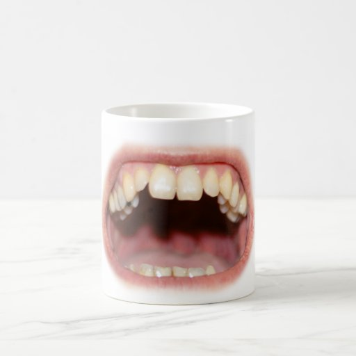 Big Mouth And Teeth Mug / Cup