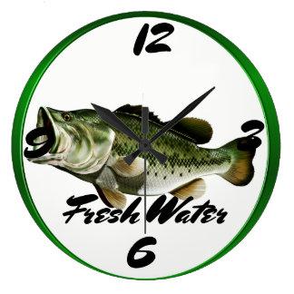 Big  Mouth Bass Wall Clock