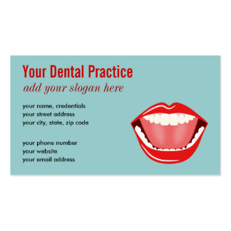 Big Mouth Blue Professional Dental Business Cards