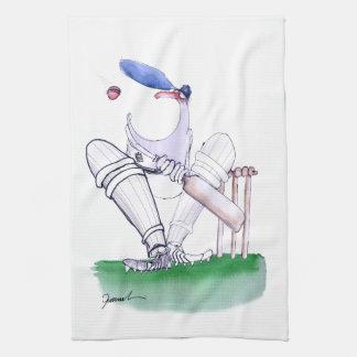 Big Mouth - cricket, tony fernandes Tea Towel
