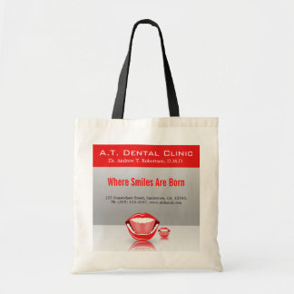 Big Mouth Dental Dentist Promotional Tote Bags Canvas Bags